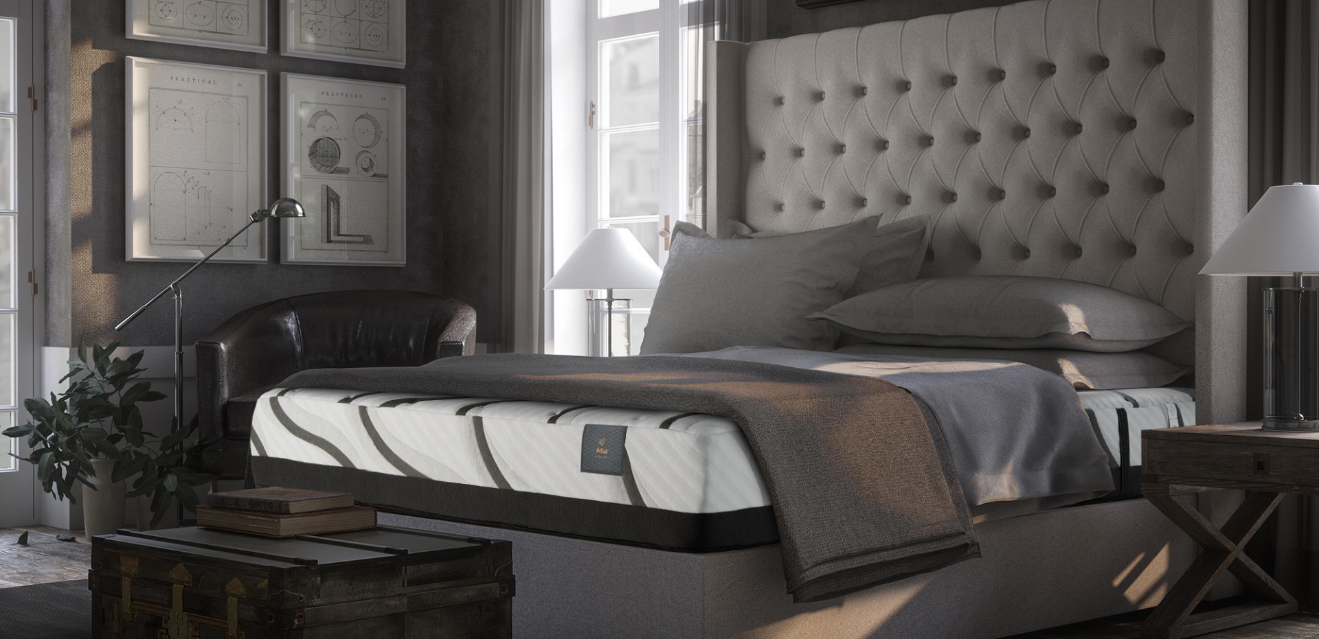 Atlas Max Support Mattress by White Dove